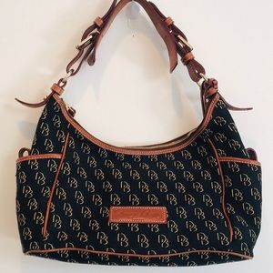 Dooney&Burke Black Patterned Bag Great Condition